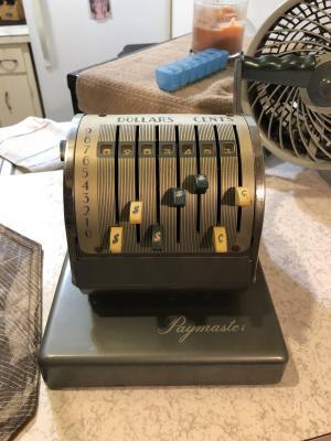 antique paymaster check maker