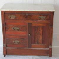 Marble top cabinet front