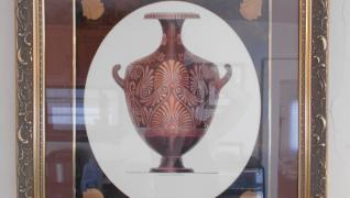 1820 Engraved Vase Print by Henry Moses