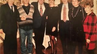 Michael Kovner, Larry King, etc. at NYC exhibition, 1996