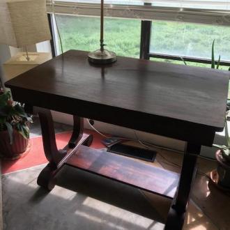 Antique Partners Desk (table desk) view 1