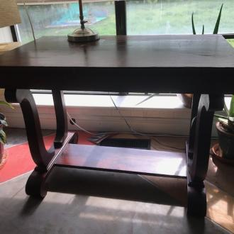Antique Partners Desk (table desk) view 2
