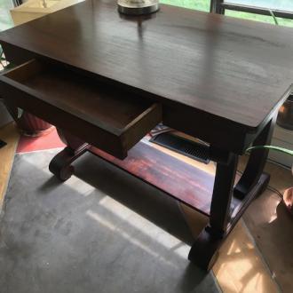 Antique Partners Desk (table desk) view 3