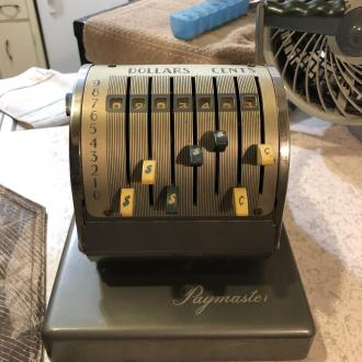 antique paymaster check maker