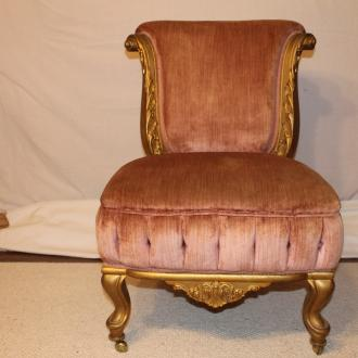 vintage pink velvet chair to set of 4