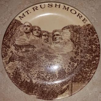 Antique Mt. Rushmore plate