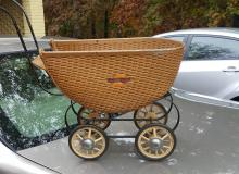wicker baby buggy cica 1910