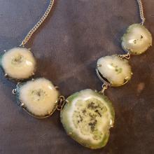 Geode Druzy Choker Bib Necklace